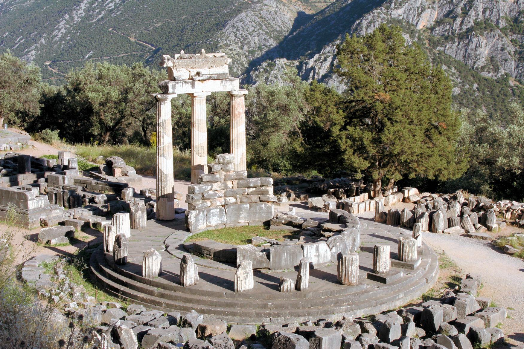 Ancient Greece: Temple at Delphi