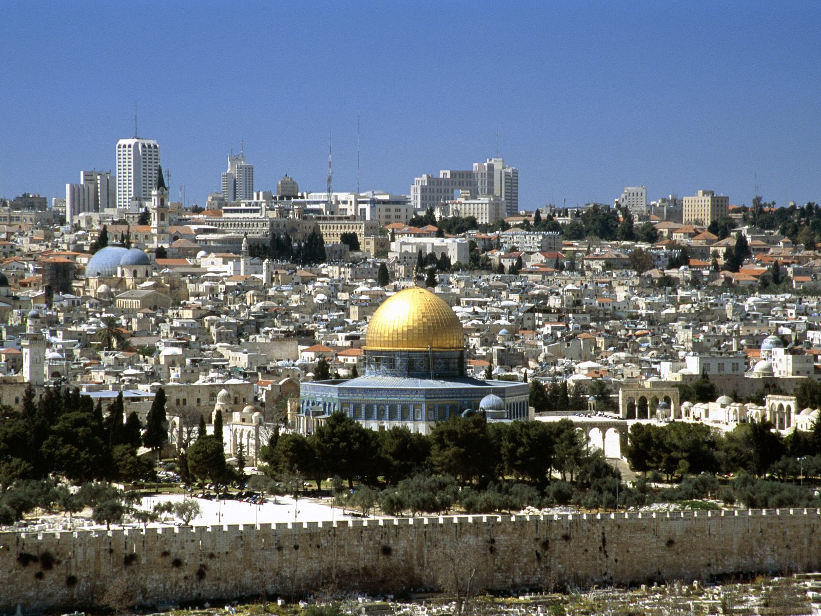 Jerusalem, Israel, Dome of the Rock city view