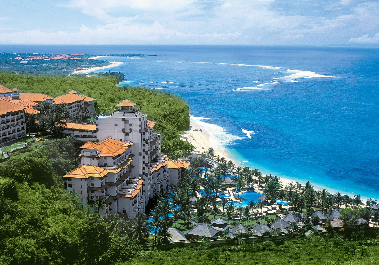 Bali indonesia resort and beach view from top for Indonesia resorts bali