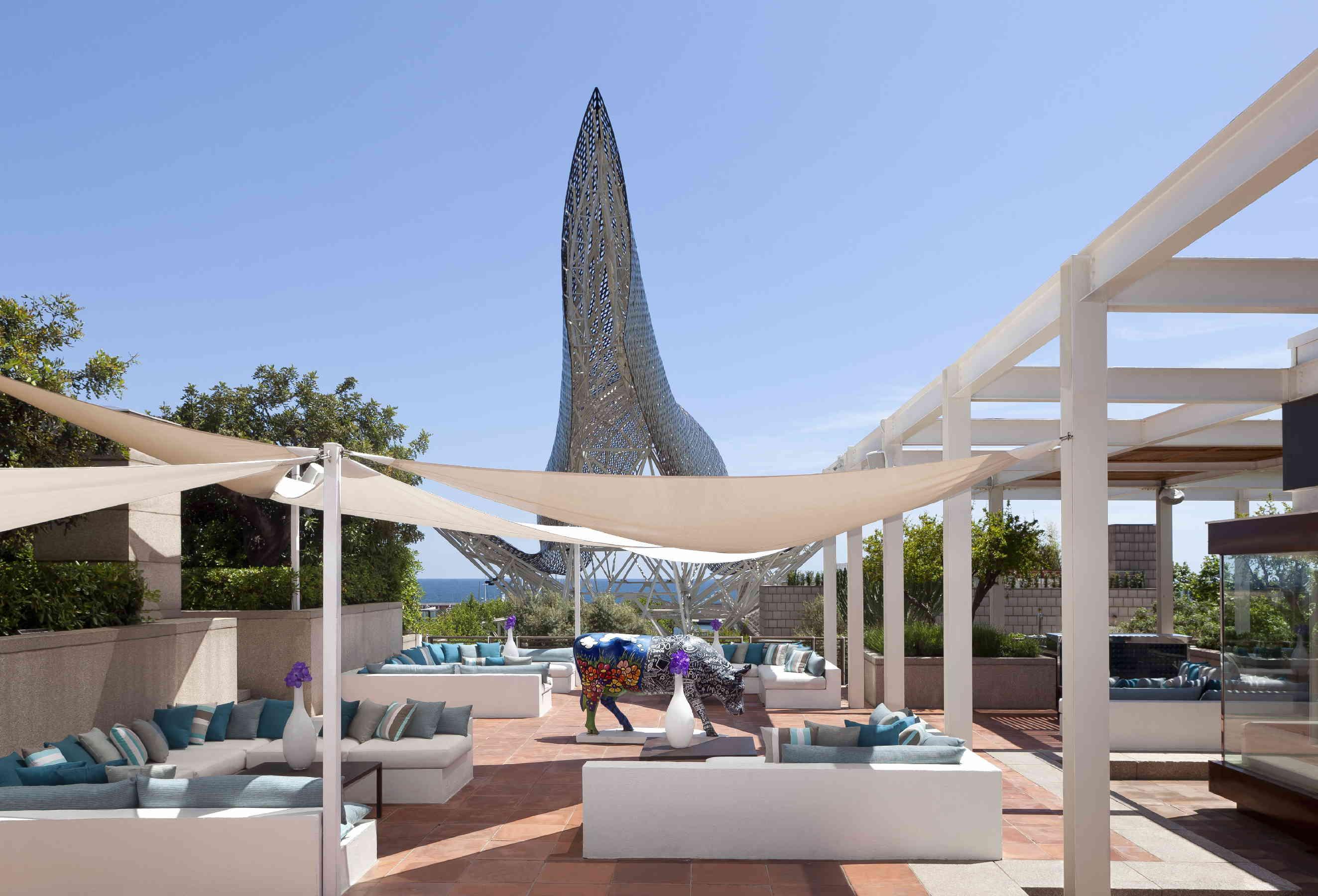 Famous Restaurants In Barcelona Spain Arola Restaurant Terrace