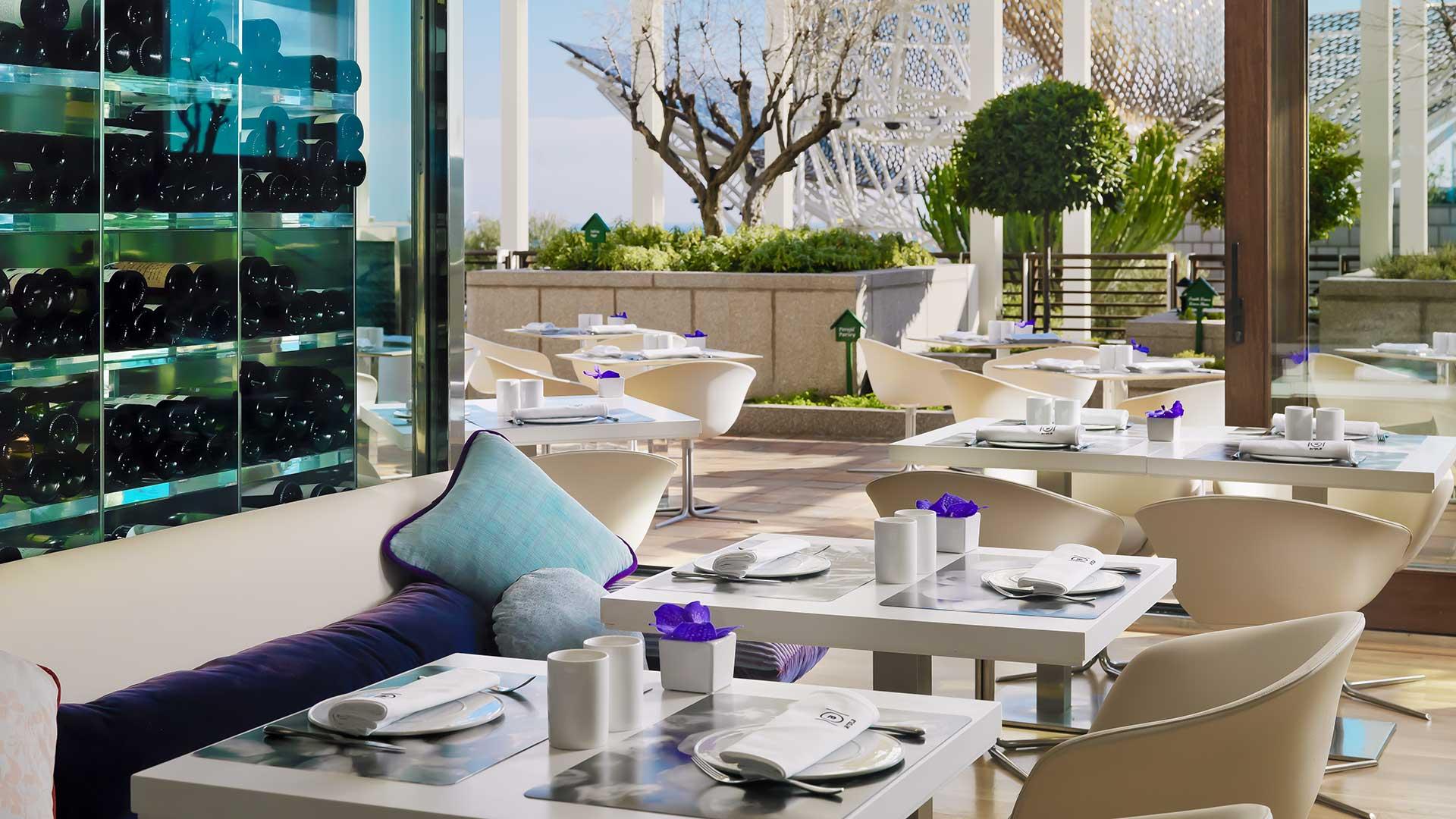 Famous Restaurants In Barcelona Spain Arola Restaurant Terrace View