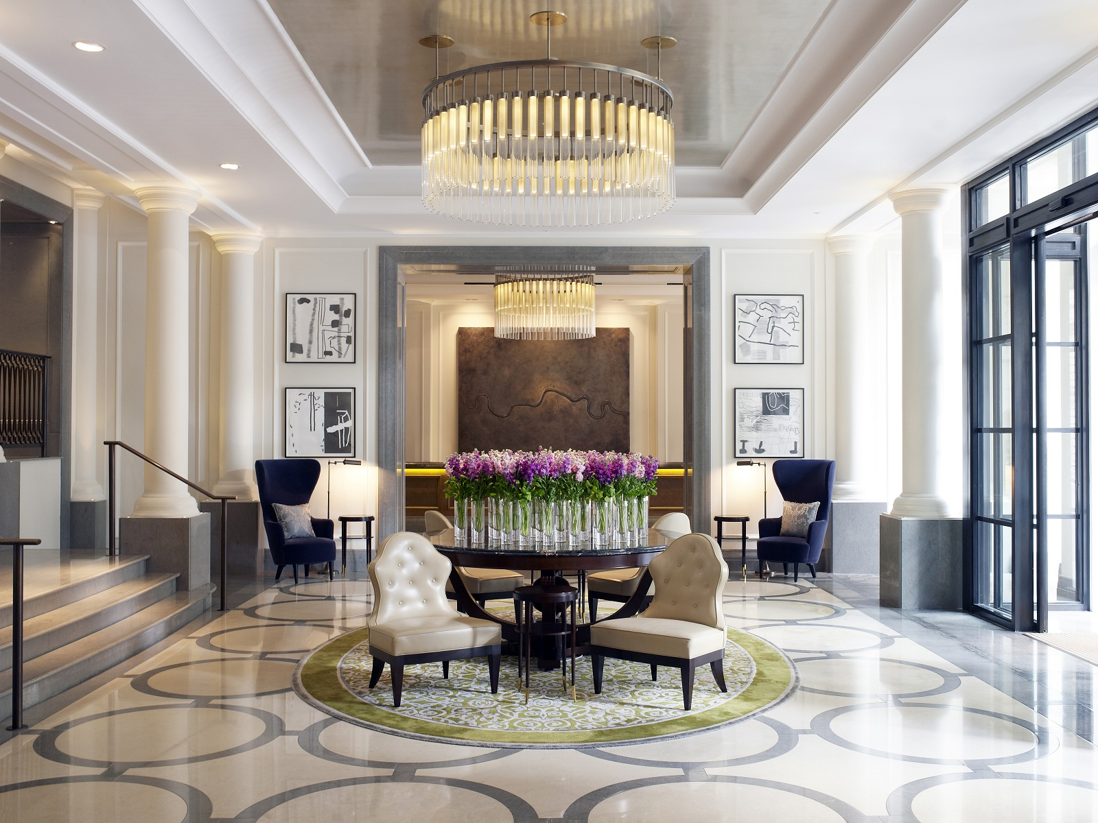Best new hotel london uk corinthia hotel entrance lobby for Best modern hotels in london