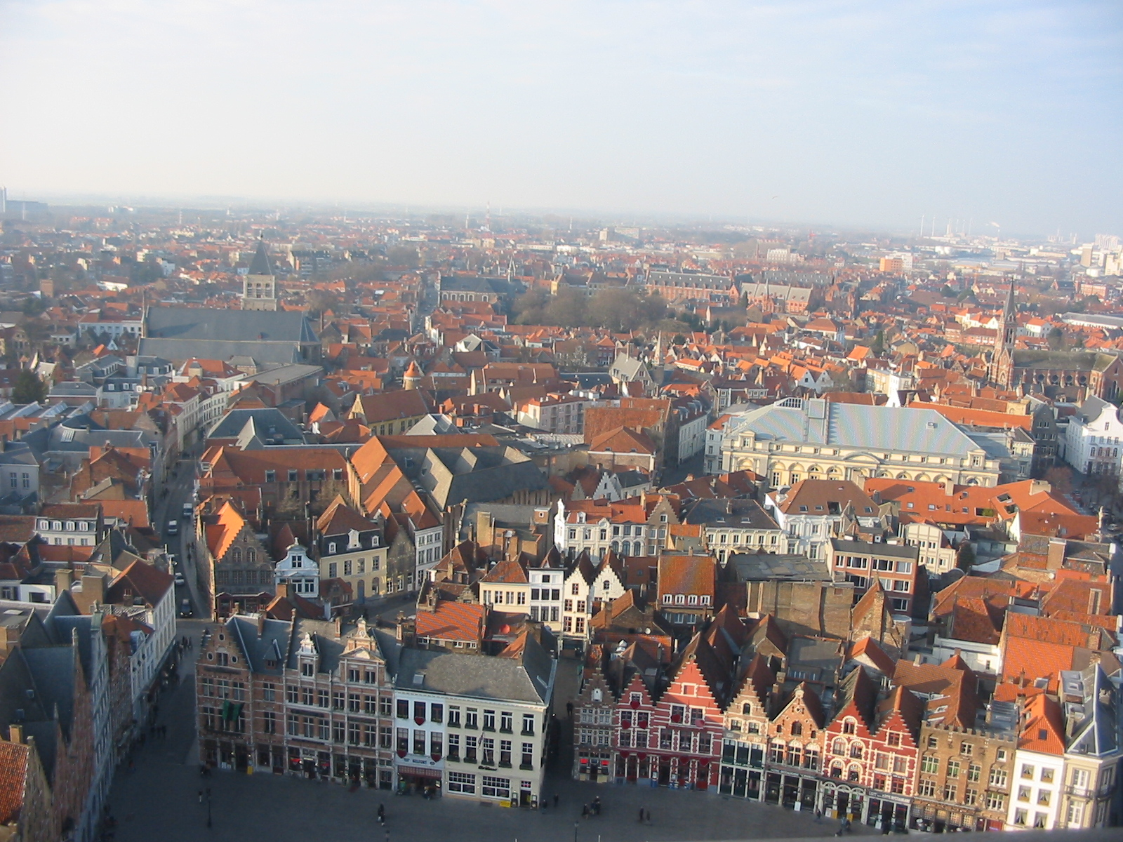 Bruges, Belgium, City view from the Belfry