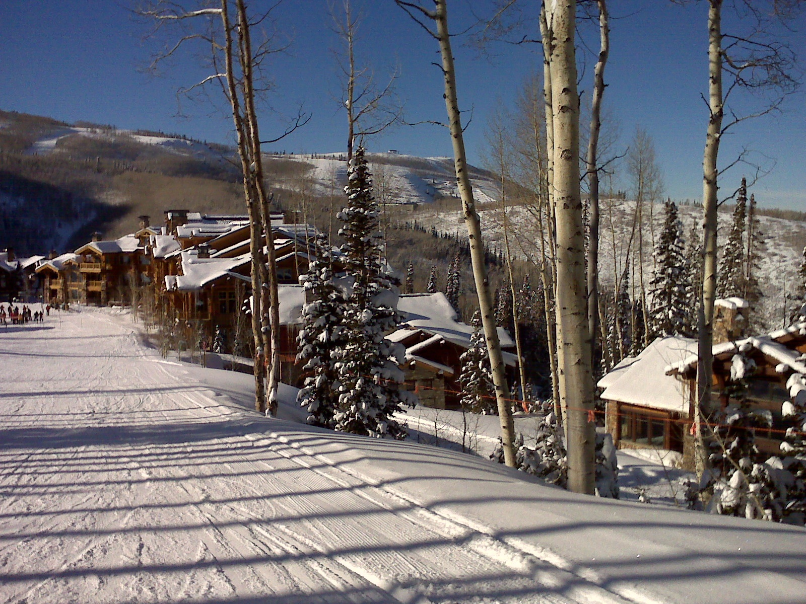 park city utah usa slope ready for skiing