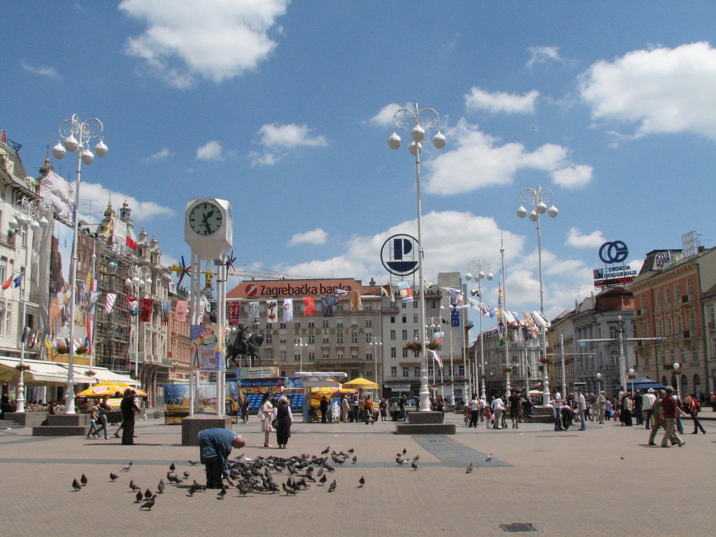 Zagreb Croatia  city pictures gallery : Croatia Holiday, Zagreb, Croatia, Ban Jelacic Square overview