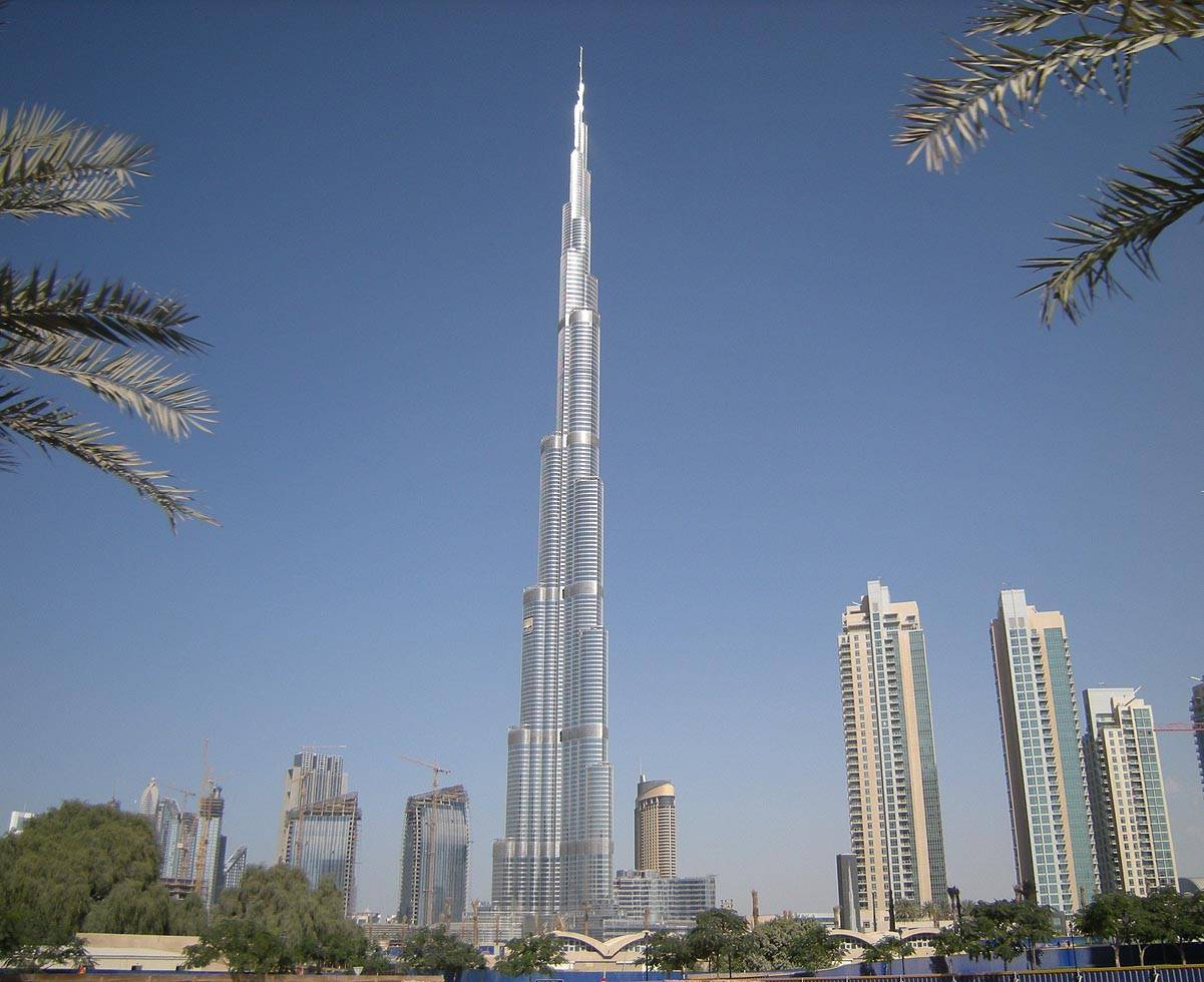 famous tower holiday dubai uae burj khalifa upview