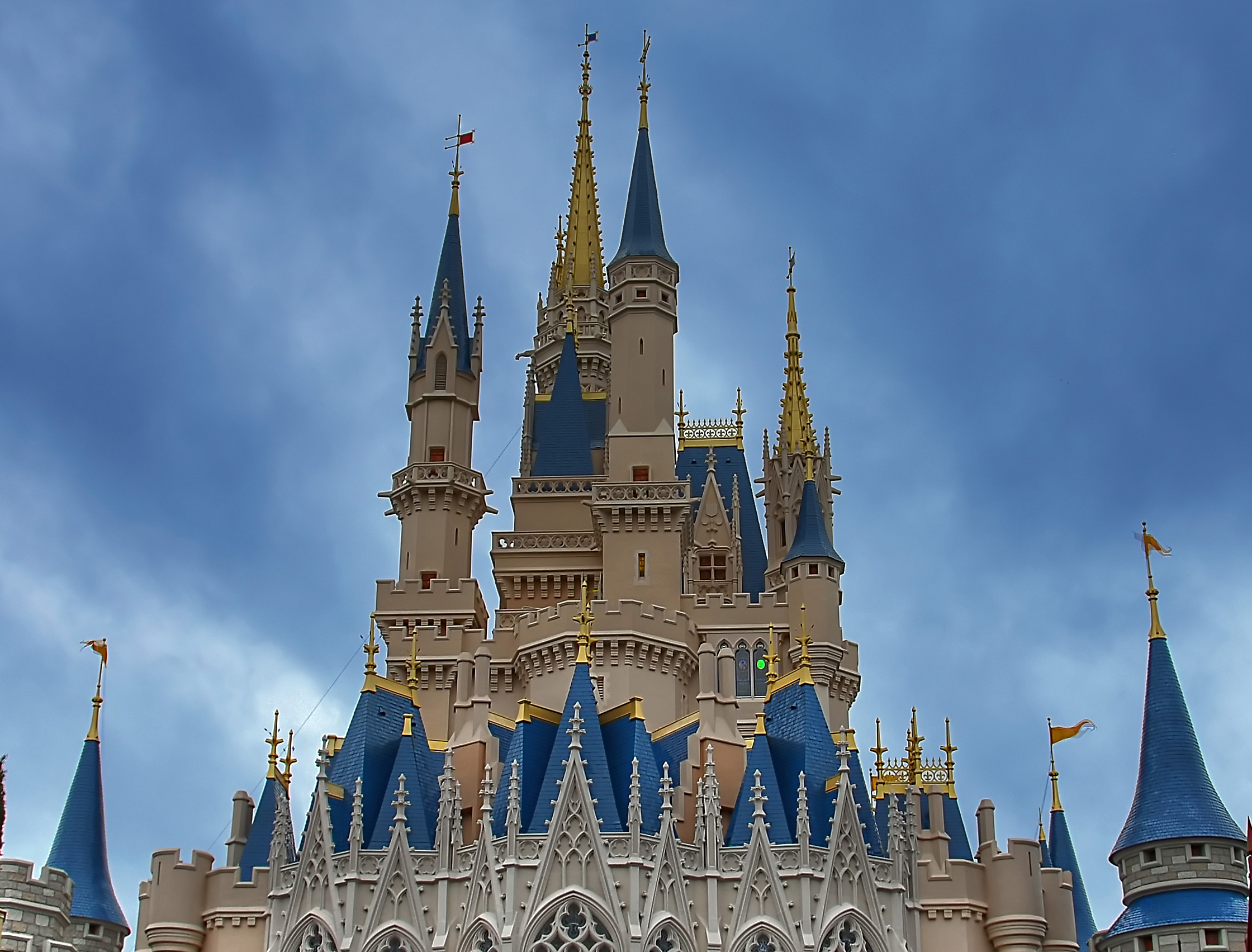 Florida, U.S.A., Towers of Cinderella Castle at Walt Disney World