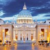 City Break Holiday, Rome, Italy, Vatican Saint Peter Basilica front view