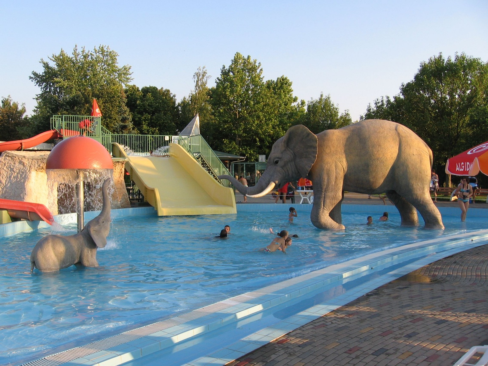 Hajduszoboszlo Hungary  city photos : Hajduszoboszlo, Hungary, Water Park with elephant statue