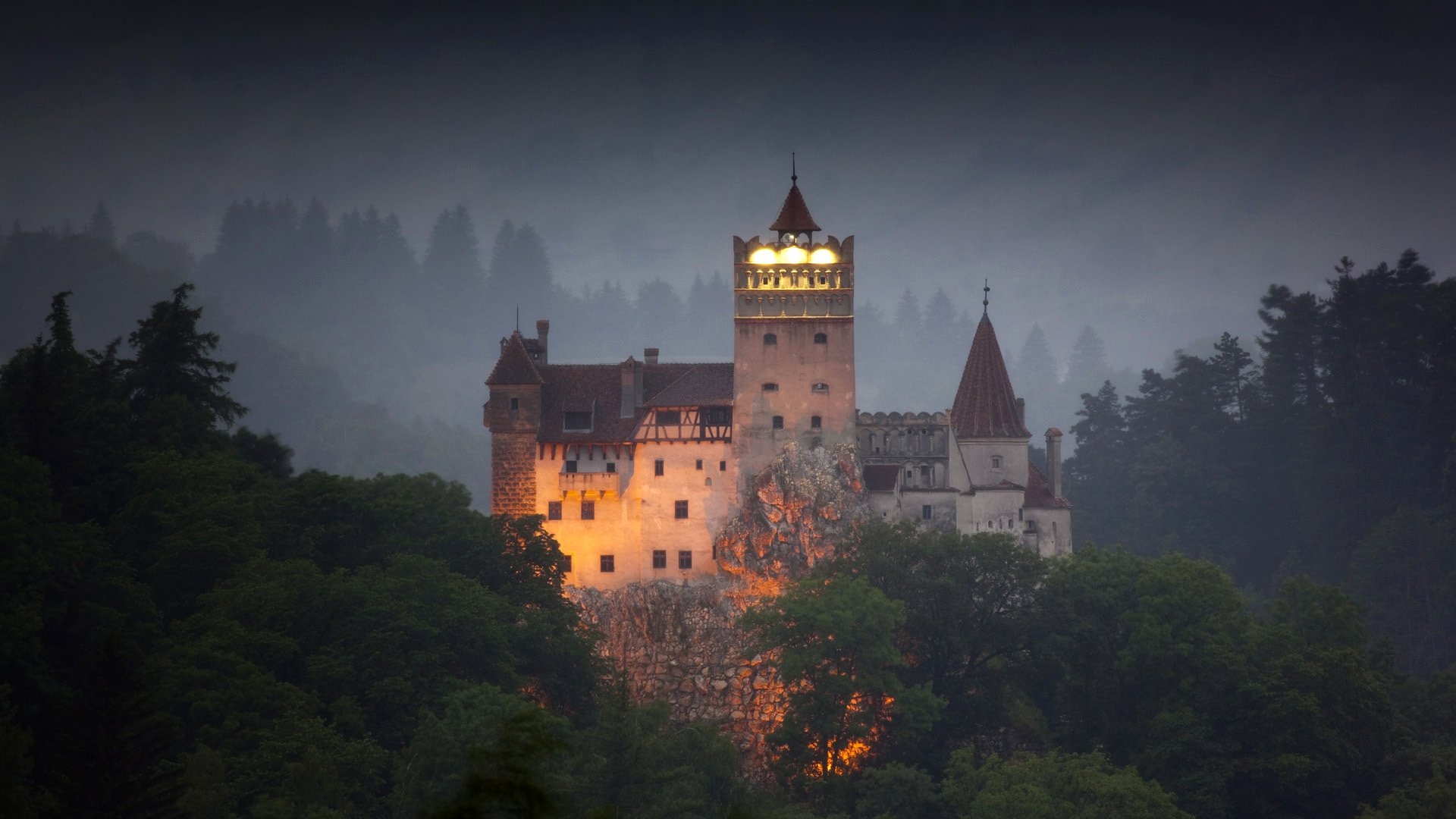 halloween holiday brasov romania bran castle panorama - Halloween Holiday