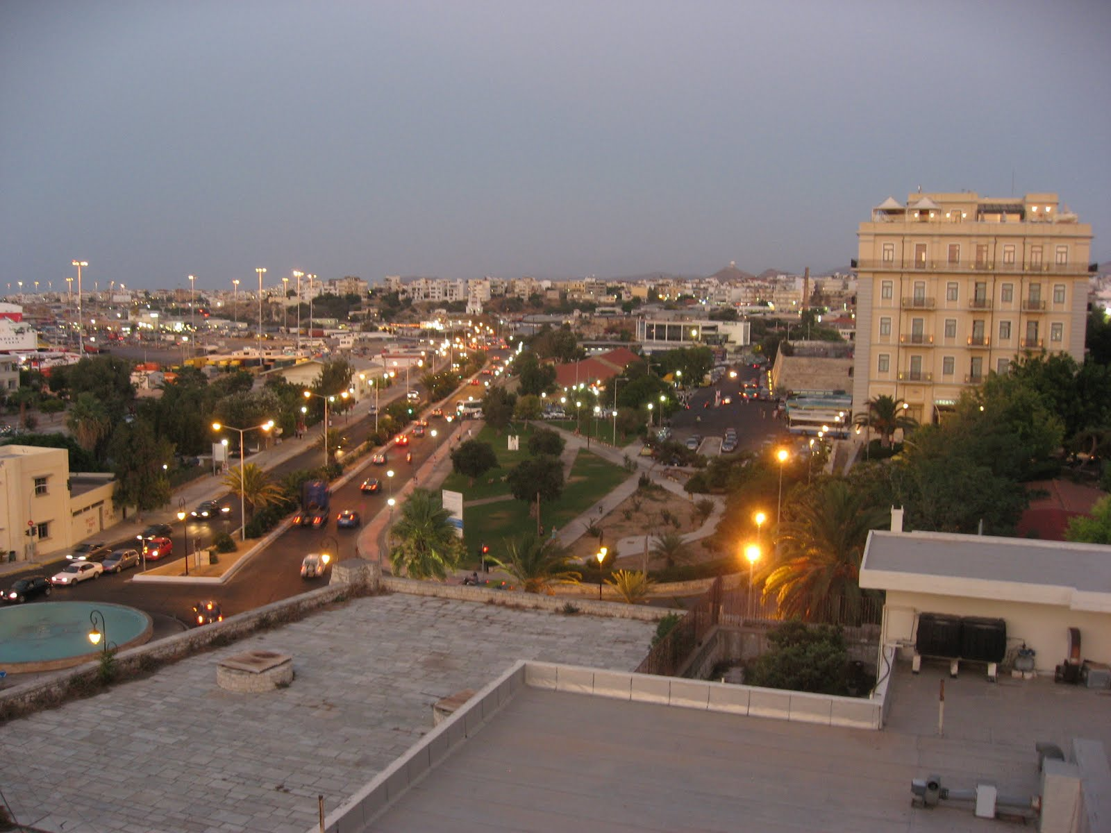 Heraklion, Greece, City overview at dusk