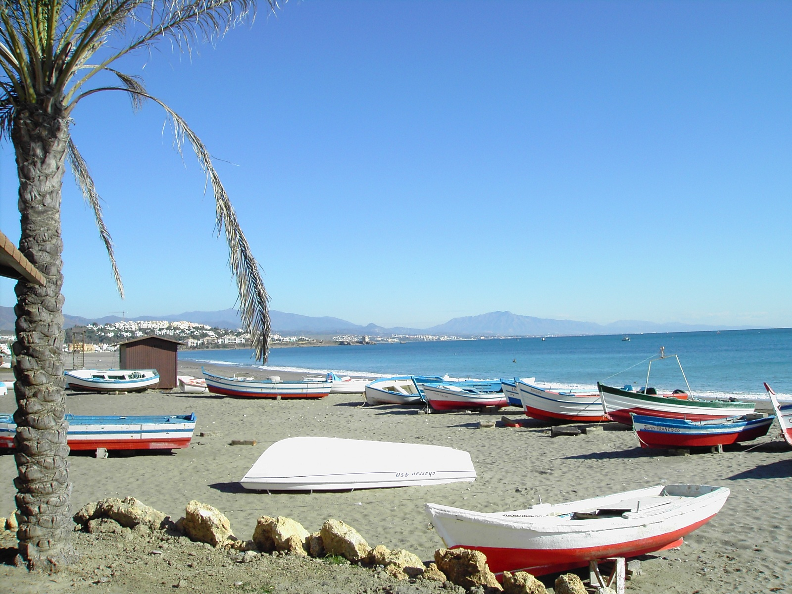 Holiday in Spain, Costa del Sol, Spain, Beach view