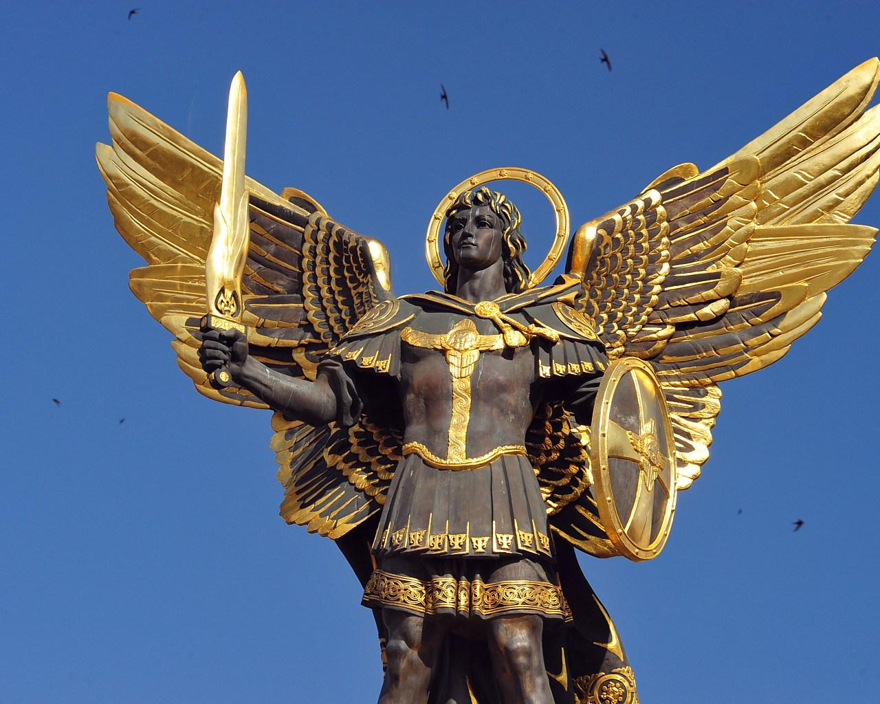 Archangel Michael Statue Kiev Ukraine Kiev Ukraine Archangel