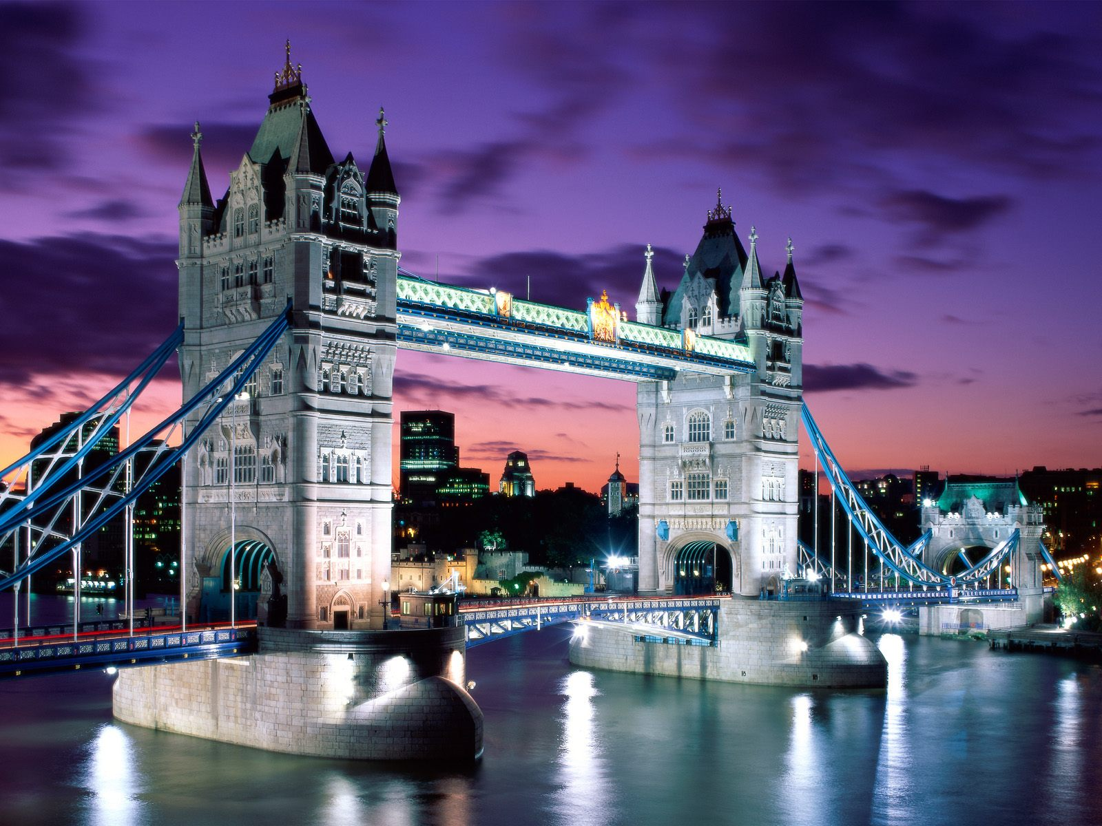 London United Kingdom  city images : London, United Kingdom, Tower Bridge at evening