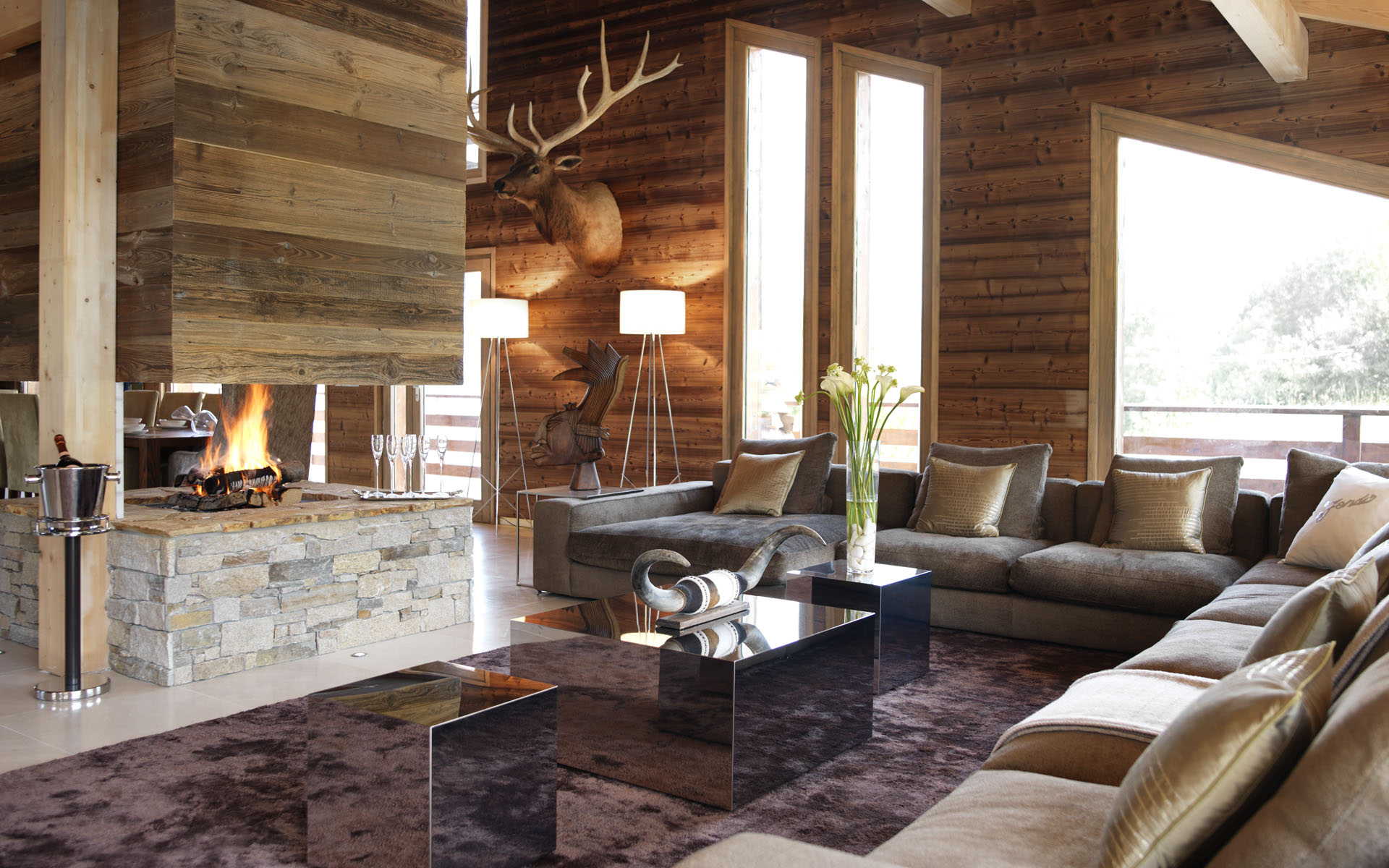 luxurious ski holiday chalet one oak megeve france. Black Bedroom Furniture Sets. Home Design Ideas