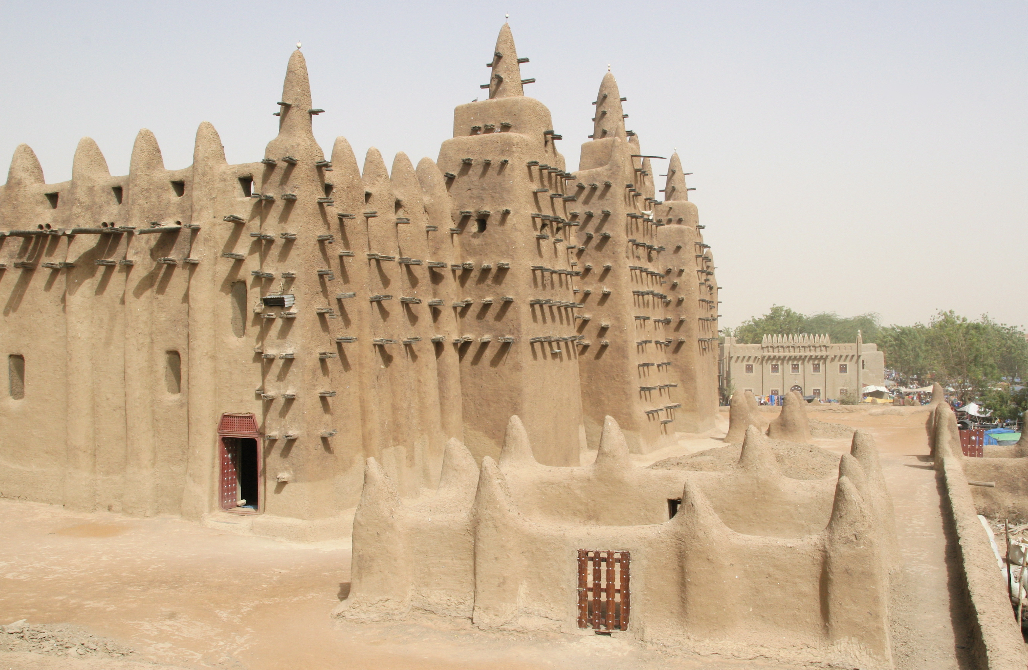 images of Mali Africa The Great Mosque Djenne Overview