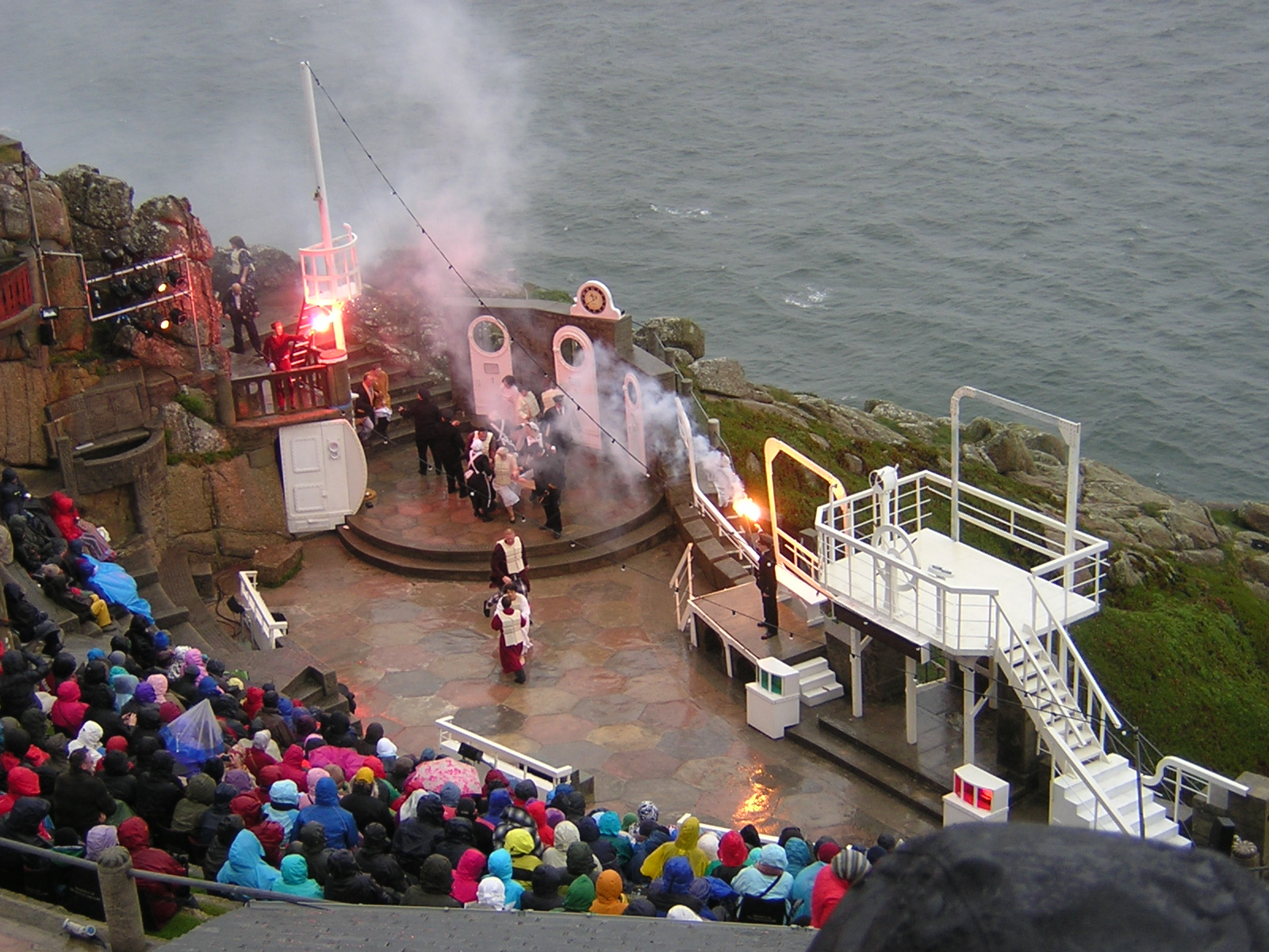 Coolest Theatre, Cornwall, England, Minack Theatre performance