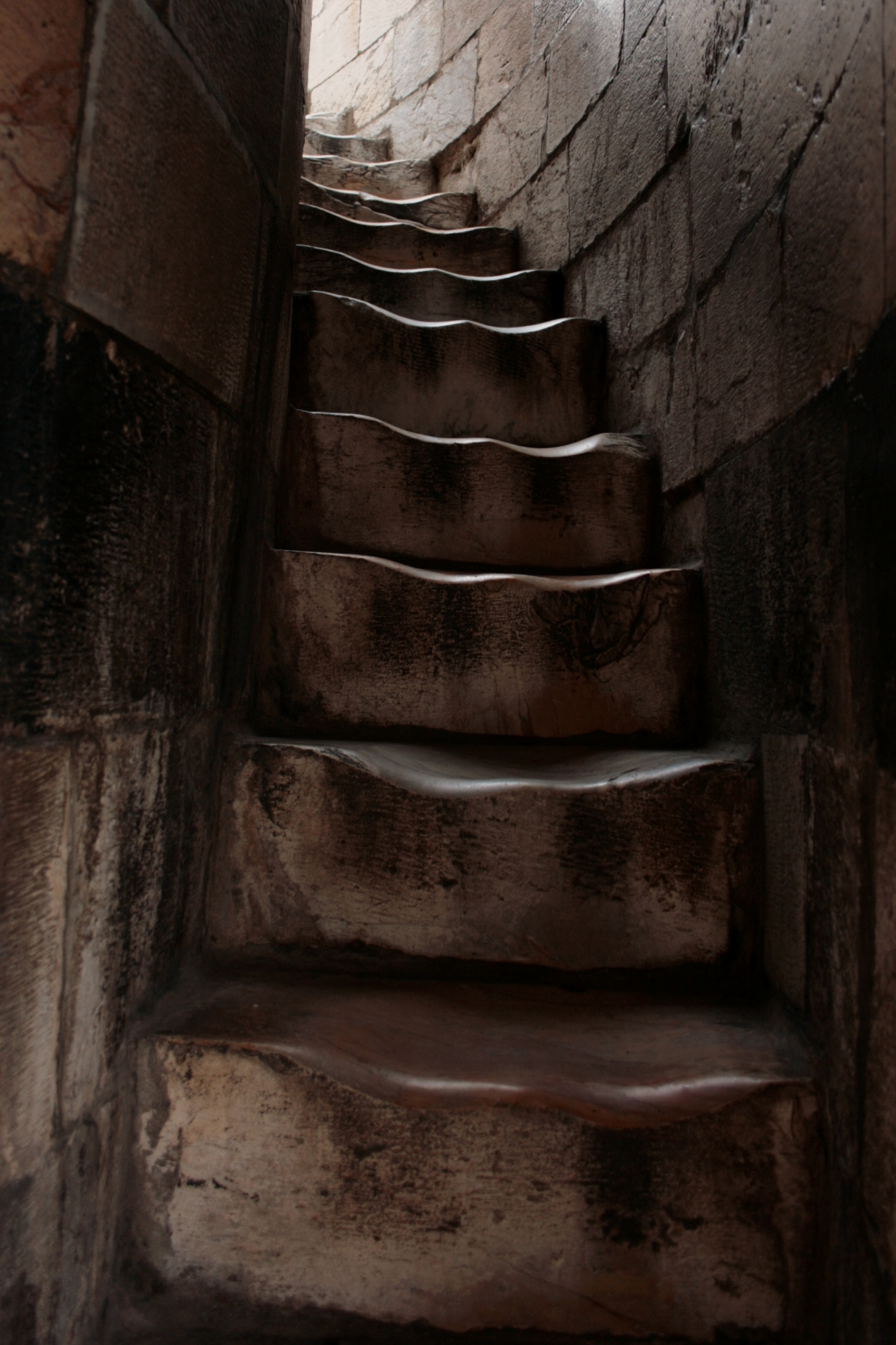 Pisa, Italy, Leaning Tower Of Pisa Interior Staircase .