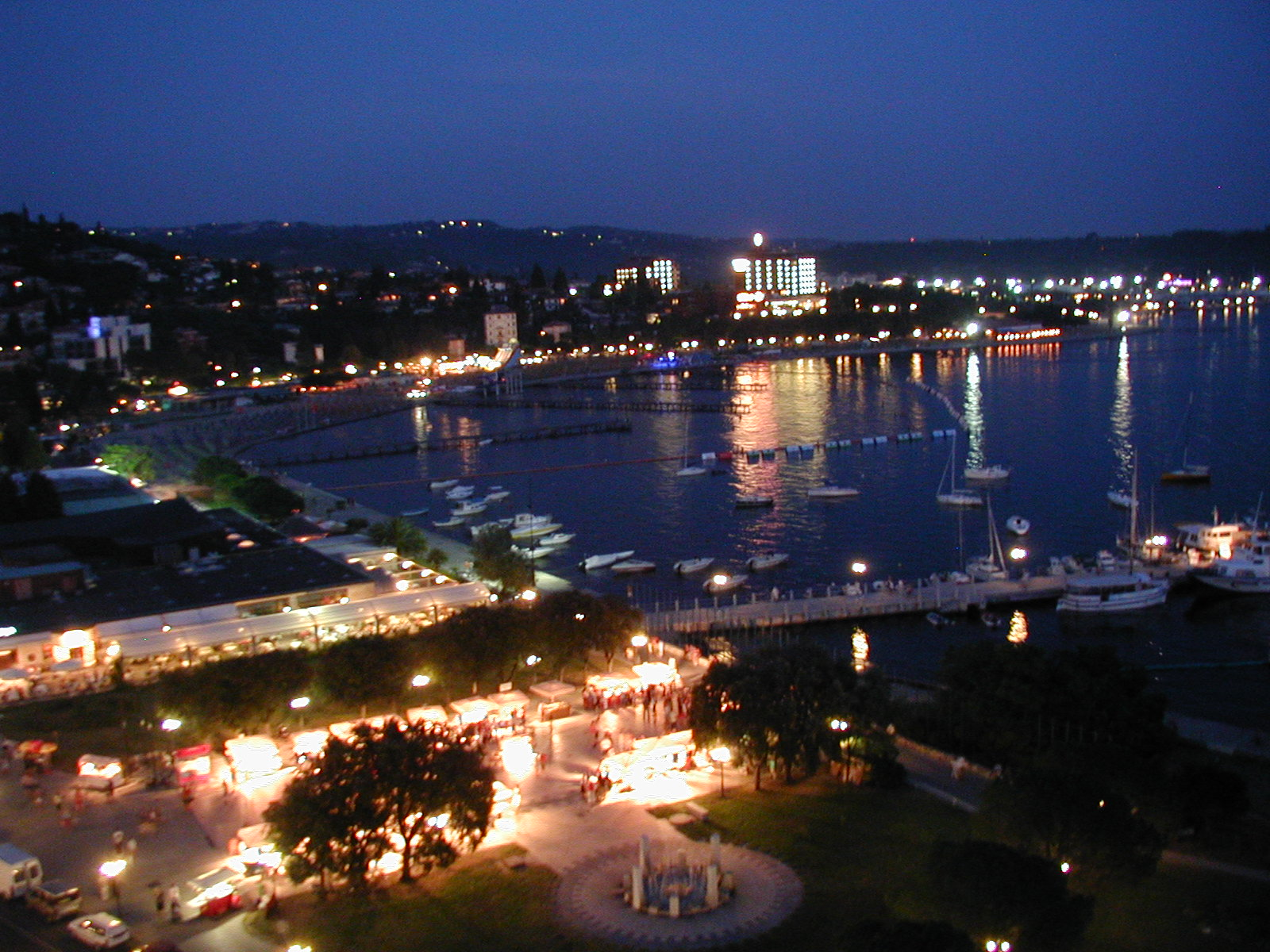 Portoroz Slovenia  City new picture : Portoroz, Slovenia, At night