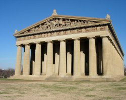 Tennessee, U.S.A., The Parthenon tennesee replica - front view