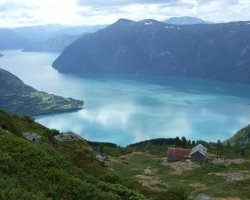 Norway, Europe, LustraFjord overview