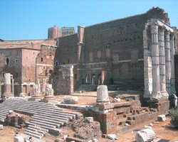 Rome, Italy, Forum of Augustus Temple of Mars Ultor overview