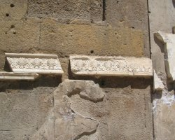 Rome, Italy, Marble decorations from room next to the temple of Mars Ultor