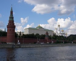 Moscow, Russia, Kremlin view from the river