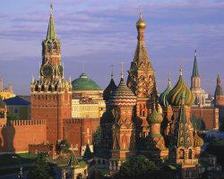 Moscow, Russia, St Basil Cathedral and Kremlin