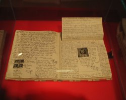 Anne Frank Museum, Amsterdam, Pages from her diary