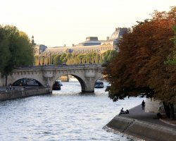Paris, France, Autumn and city skyline