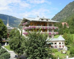Bad Gastein, Austria, Pension on a sunny day