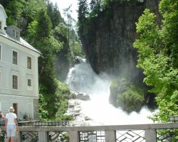 Bad Gastein, Austria, Waterfall in the city