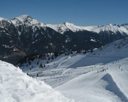 Bad Gastein, Austria, Sky slope view from above