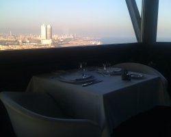 Famous Restaurants in Barcelona, Spain, Torre dAlta Mar city view