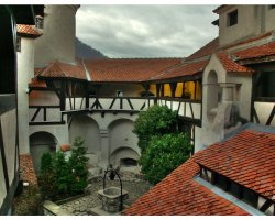 Bran Castle, Romania, Interior Courtyard with a well