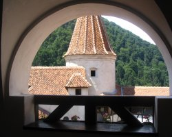 Bran Castle, Romania, View from inside