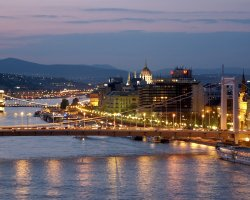Budapest, Hungary, Andrassy Av. view from the Danube