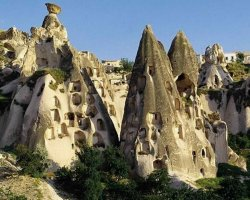Cappadocia, Turkey, Europe, Stone accomodations