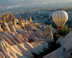 Cappadocia, Turkey, Europe, Ballooning over the landscape