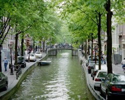 City Break Holiday, Amsterdam, The Netherlands, Canal overview