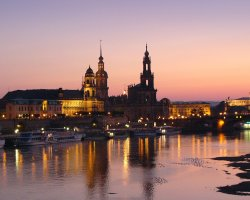 Dresden, Germany, Sunset over the city