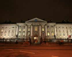 Dublin attractions, Ireland, Trinity College at night