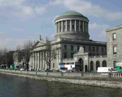 Dublin attractions, Ireland, The Four Courts by the Liffey