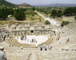 Ephesus, Turkey, Theater view from above