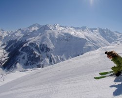 Five Dream Destinations, Val dIsere, France, Slope ready for Christmas