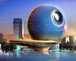 Death Star Hotel, Baku, Azerbaijan, Architecture design