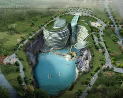 Waterworld Hotel, Songjiang, China, Concept art