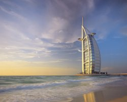 Burj Al Arab, Dubai, UAE, Panoramic view