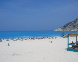 Beaches in Greece, Myrtos Beach, Kefalonia, Close view